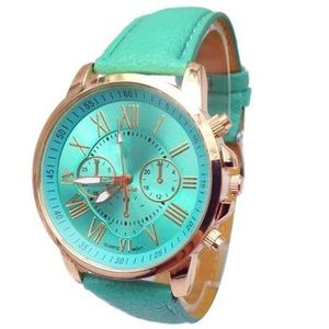 GENEVA Ladies Light Green Watch